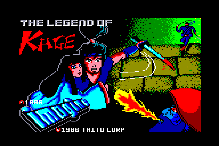 screenshot of the Amstrad CPC game Legend of Kage (the) by GameBase CPC