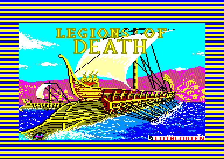screenshot of the Amstrad CPC game Legions of death by GameBase CPC