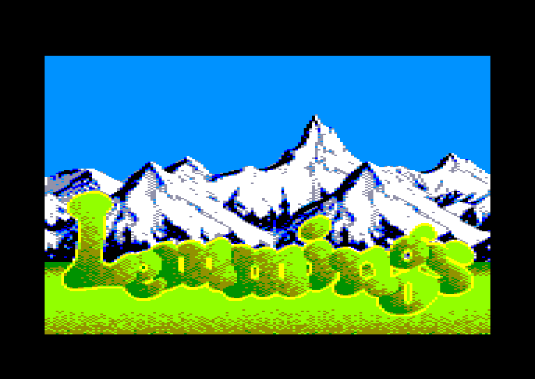 screenshot of the Amstrad CPC game Lemmings by GameBase CPC