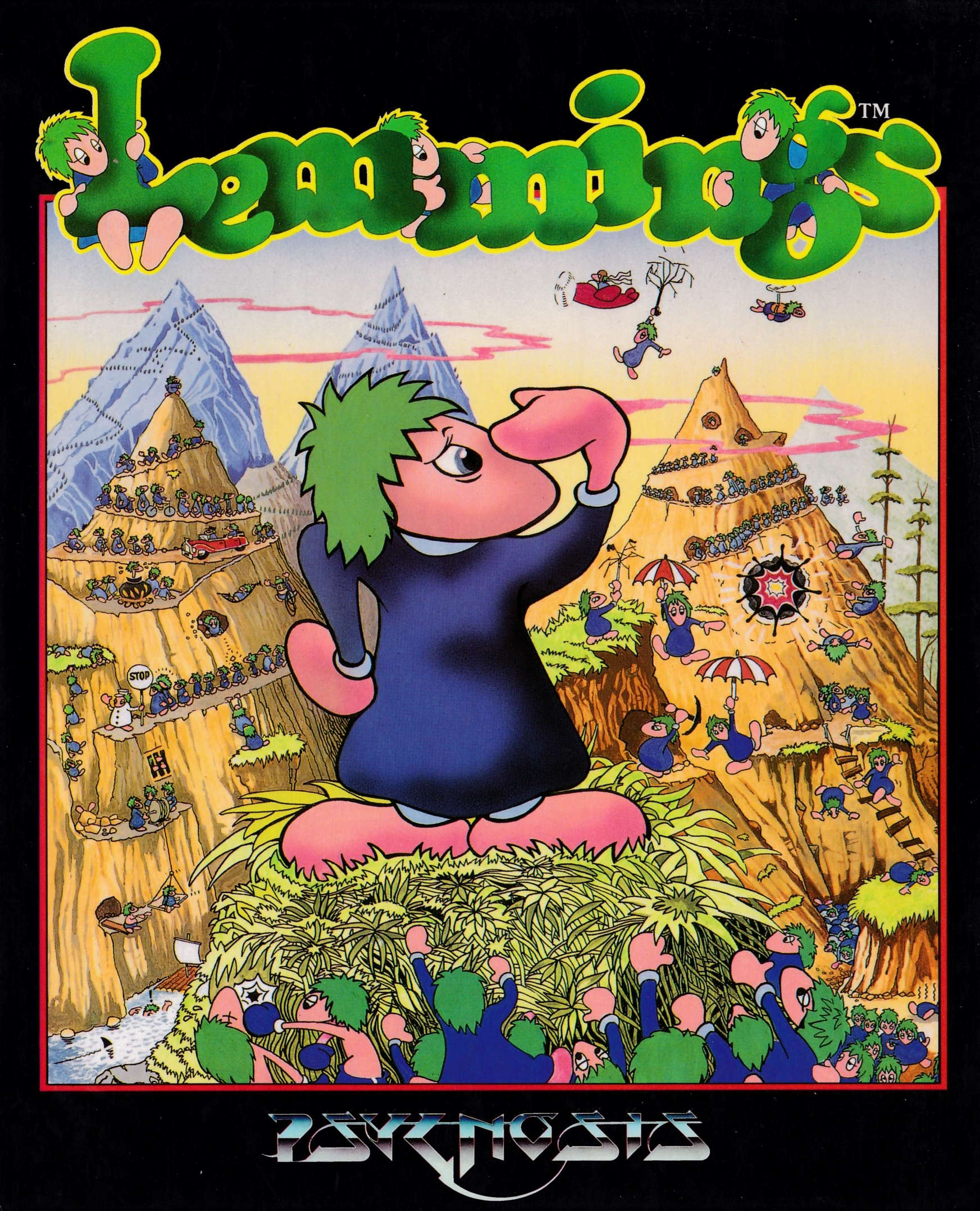 cover of the Amstrad CPC game Lemmings  by GameBase CPC