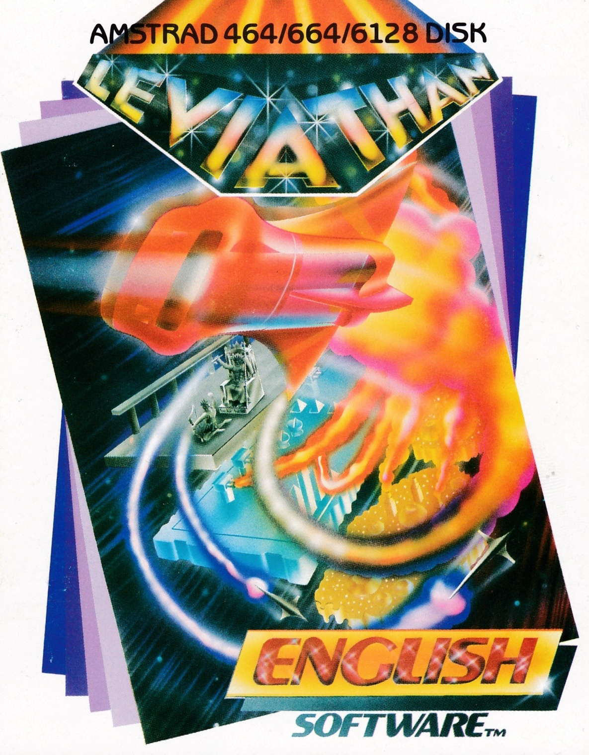 screenshot of the Amstrad CPC game Leviathan by GameBase CPC