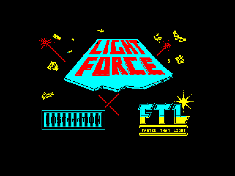 screenshot of the Amstrad CPC game Light Force by GameBase CPC