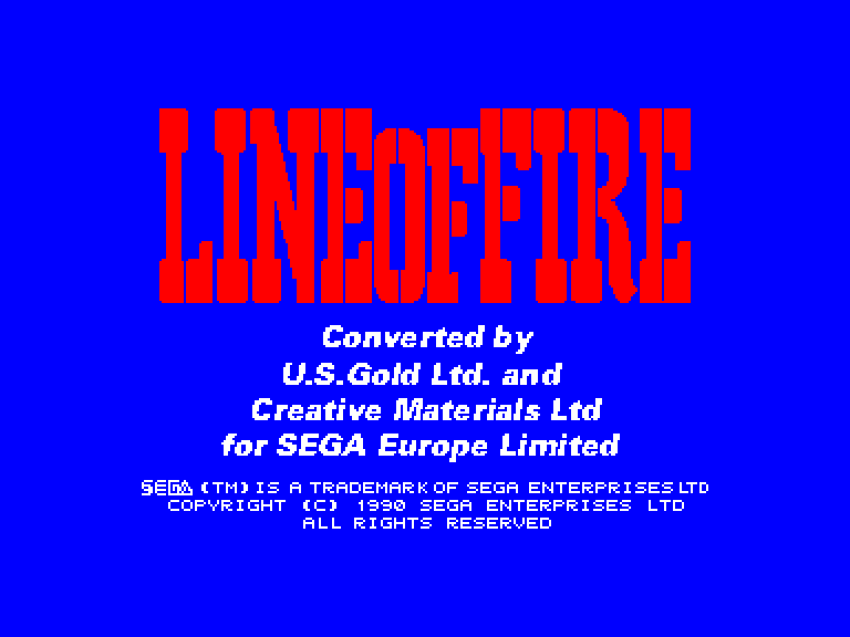 screenshot of the Amstrad CPC game Line of fire by GameBase CPC