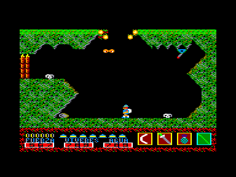 screenshot of the Amstrad CPC game Livingstone Supongo by GameBase CPC