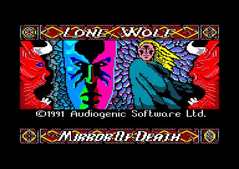 screenshot of the Amstrad CPC game Lone Wolf - The Mirror of Death by GameBase CPC