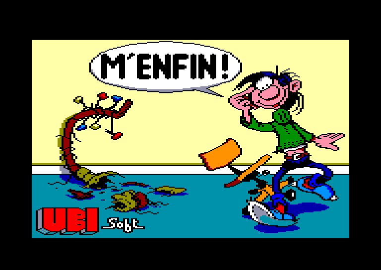 screenshot of the Amstrad CPC game M'enfin by GameBase CPC