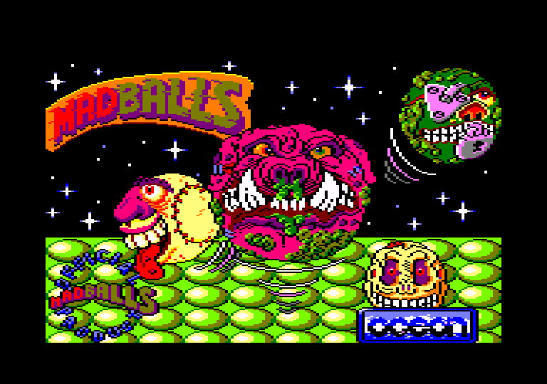 screenshot of the Amstrad CPC game Madballs by GameBase CPC