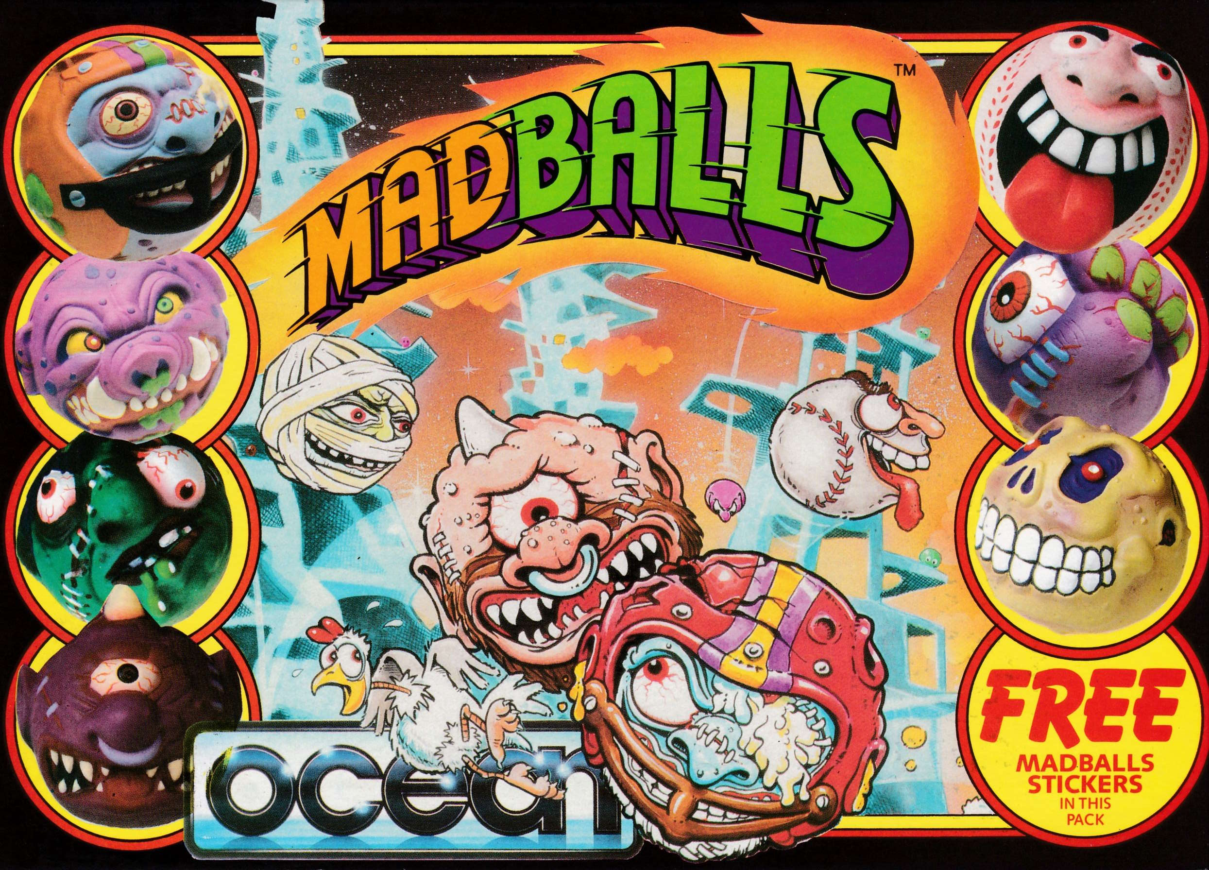 cover of the Amstrad CPC game Madballs  by GameBase CPC