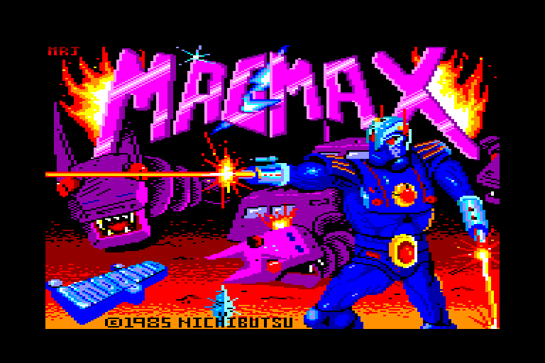 screenshot of the Amstrad CPC game Mag Max by GameBase CPC