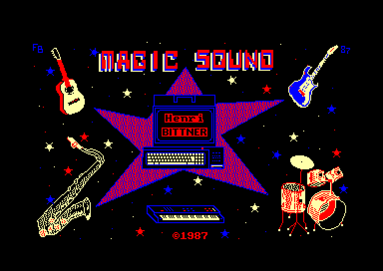 screenshot of the Amstrad CPC game Magic Sound by GameBase CPC