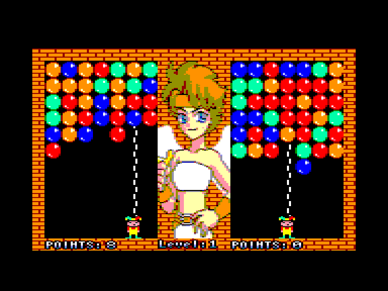 screenshot of the Amstrad CPC game Magical Drop by GameBase CPC