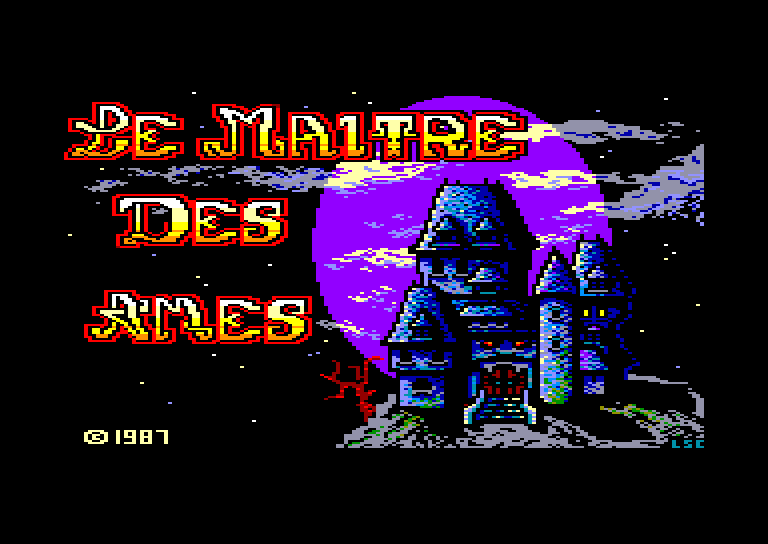 screenshot of the Amstrad CPC game Maitre des ames (le) by GameBase CPC