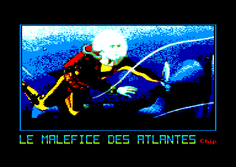 screenshot of the Amstrad CPC game Malefice des atlantes (le) by GameBase CPC