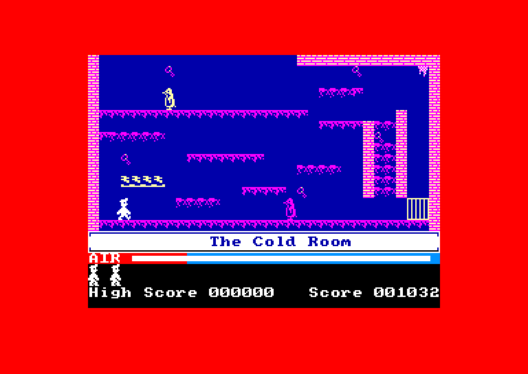 screenshot of the Amstrad CPC game Manic Miner by GameBase CPC