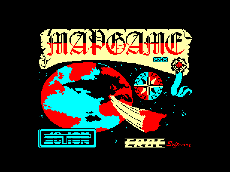 screenshot of the Amstrad CPC game Mapgame by GameBase CPC