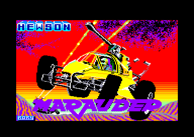 loadding screen of the Amstrad CPC game Marauder by Hewson