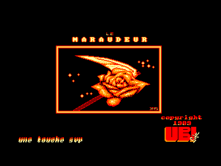 screenshot of the Amstrad CPC game Maraudeur (le) by GameBase CPC