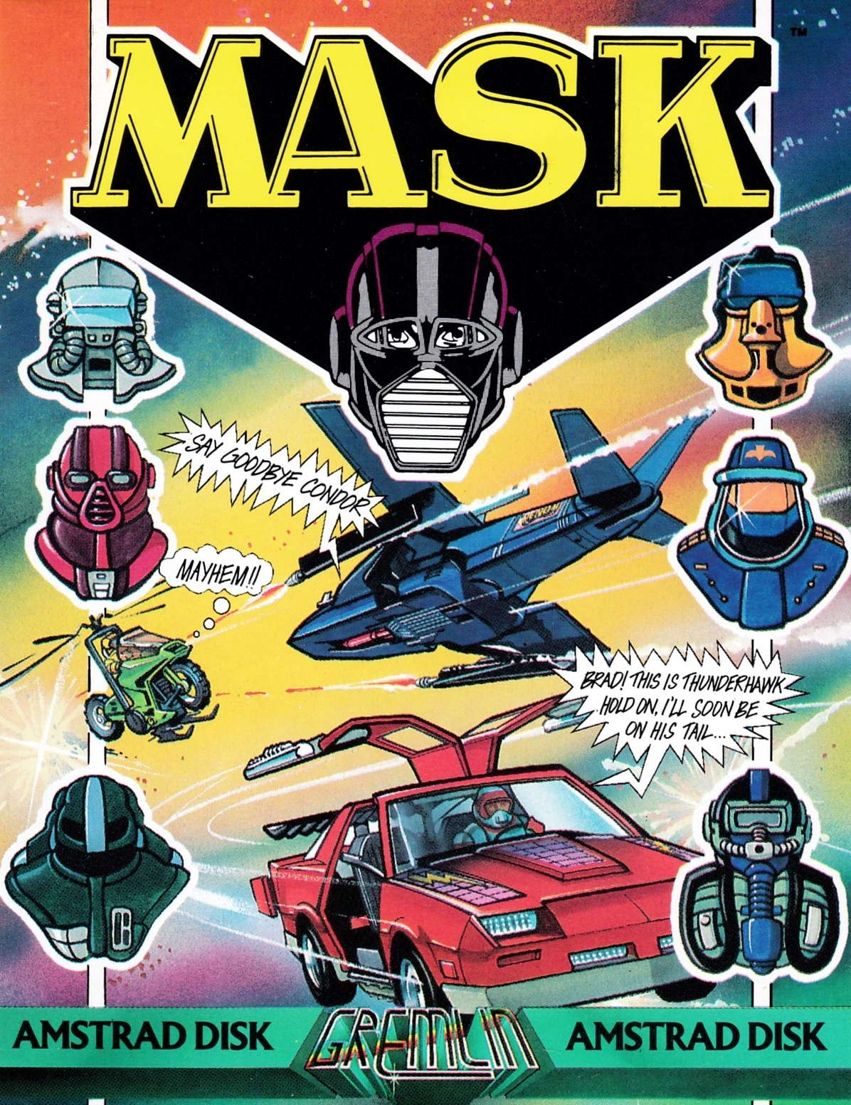 screenshot of the Amstrad CPC game Mask by GameBase CPC