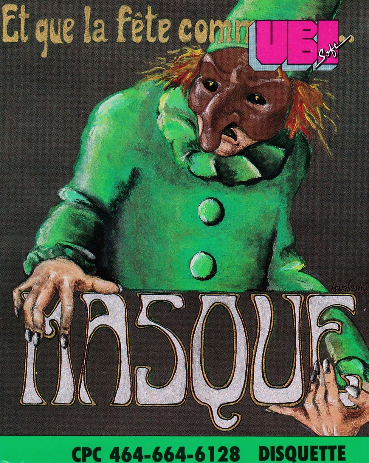 cover of the Amstrad CPC game Masque  by GameBase CPC