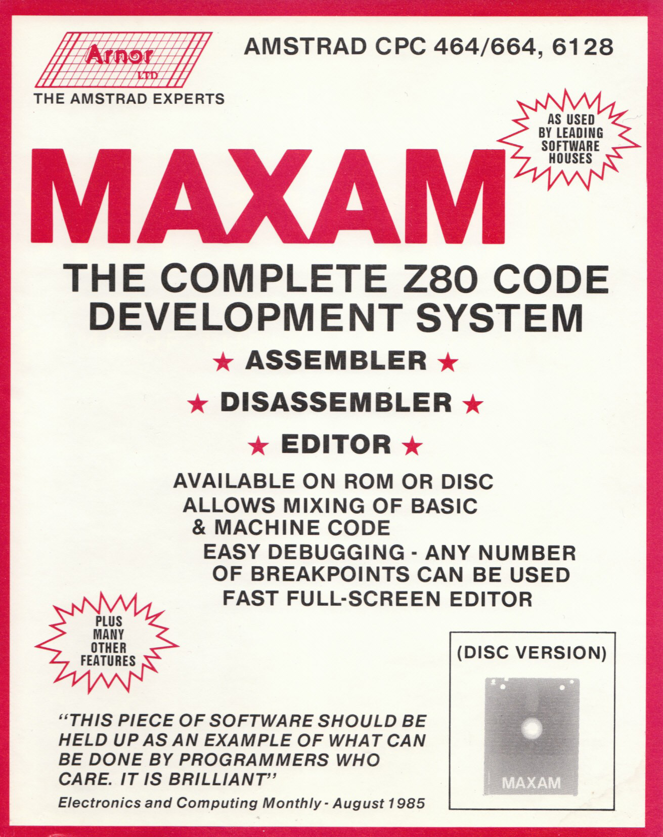 screenshot of the Amstrad CPC game Maxam by GameBase CPC