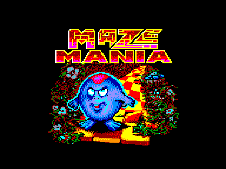 screenshot of the Amstrad CPC game Maze mania by GameBase CPC