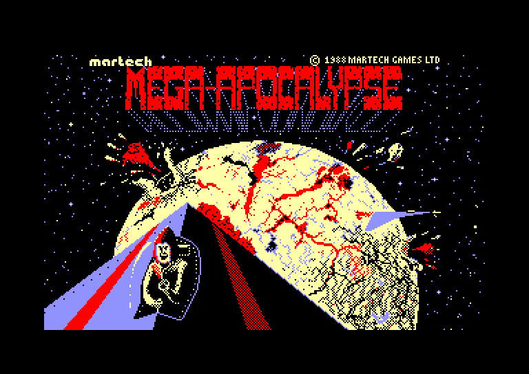screenshot of the Amstrad CPC game Mega apocalypse by GameBase CPC
