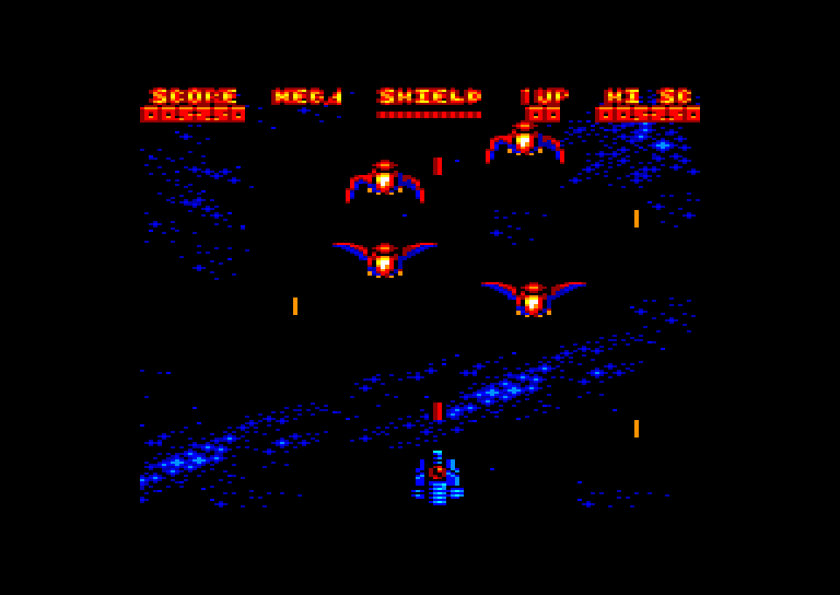 screenshot of the Amstrad CPC game Mega Phoenix by GameBase CPC