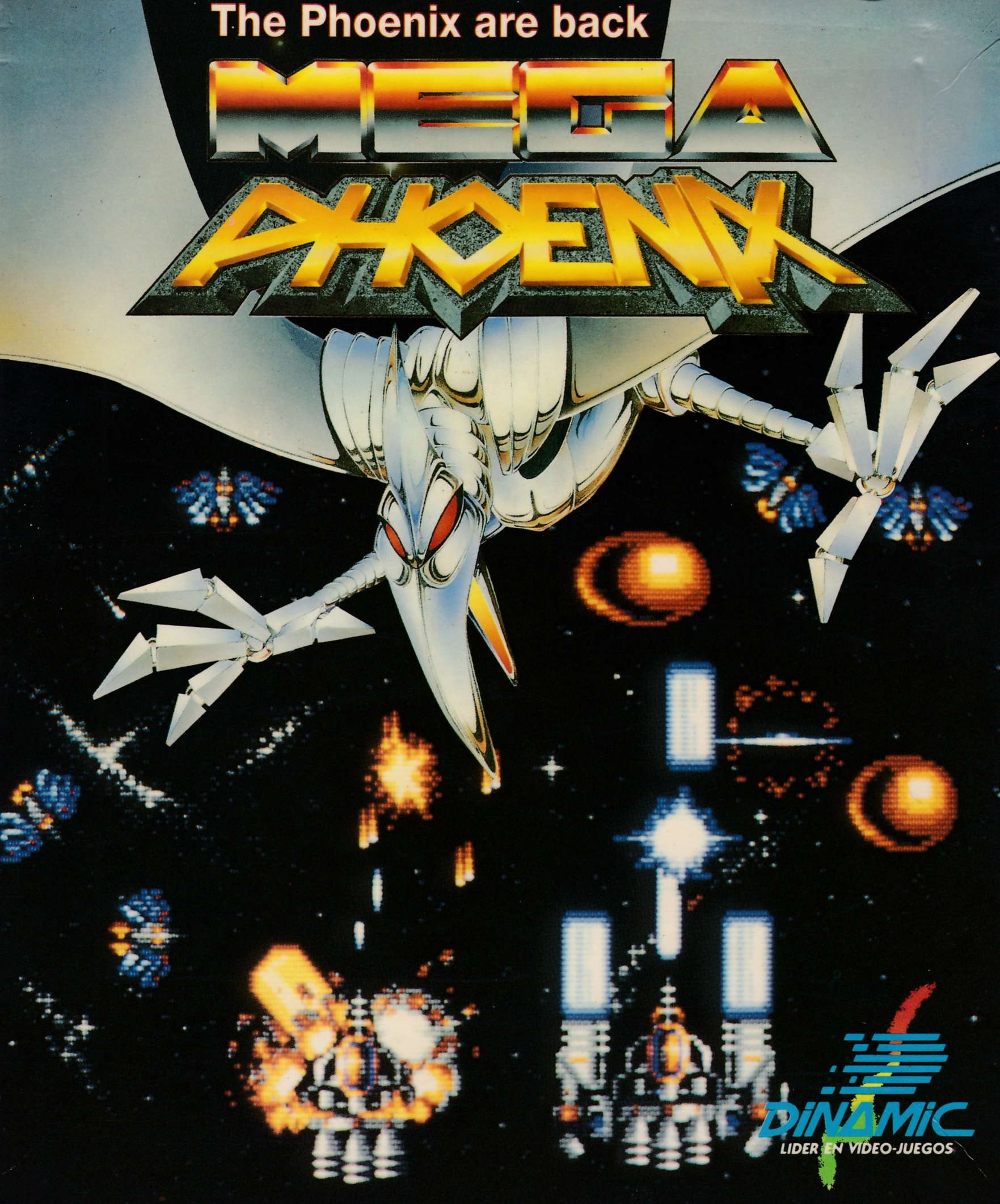 cover of the Amstrad CPC game Mega Phoenix  by GameBase CPC