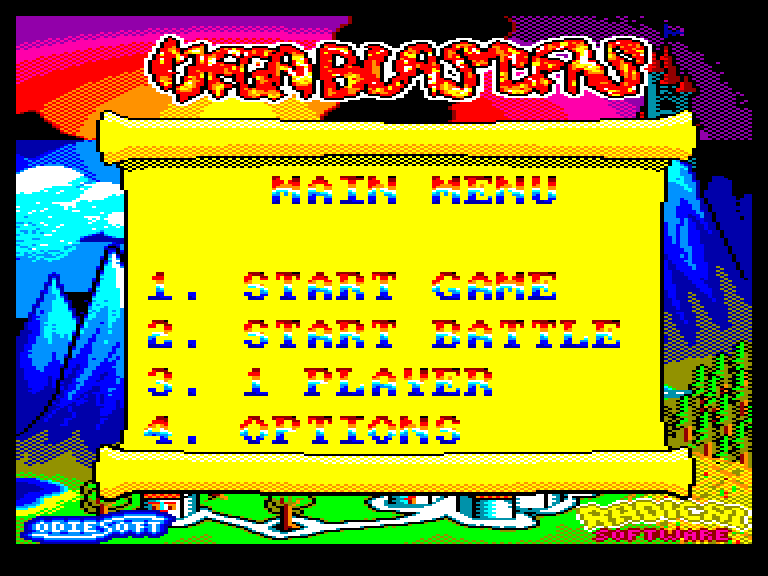 screenshot of the Amstrad CPC game Megablasters by GameBase CPC
