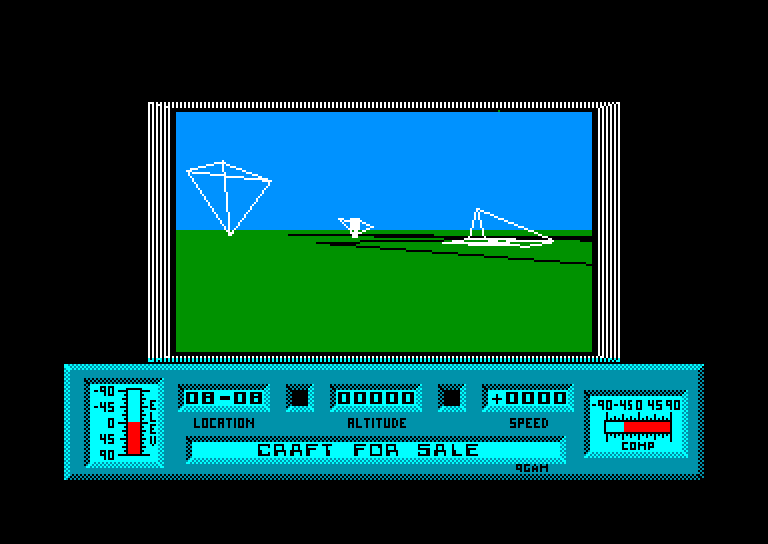 screenshot of the Amstrad CPC game Mercenary by GameBase CPC