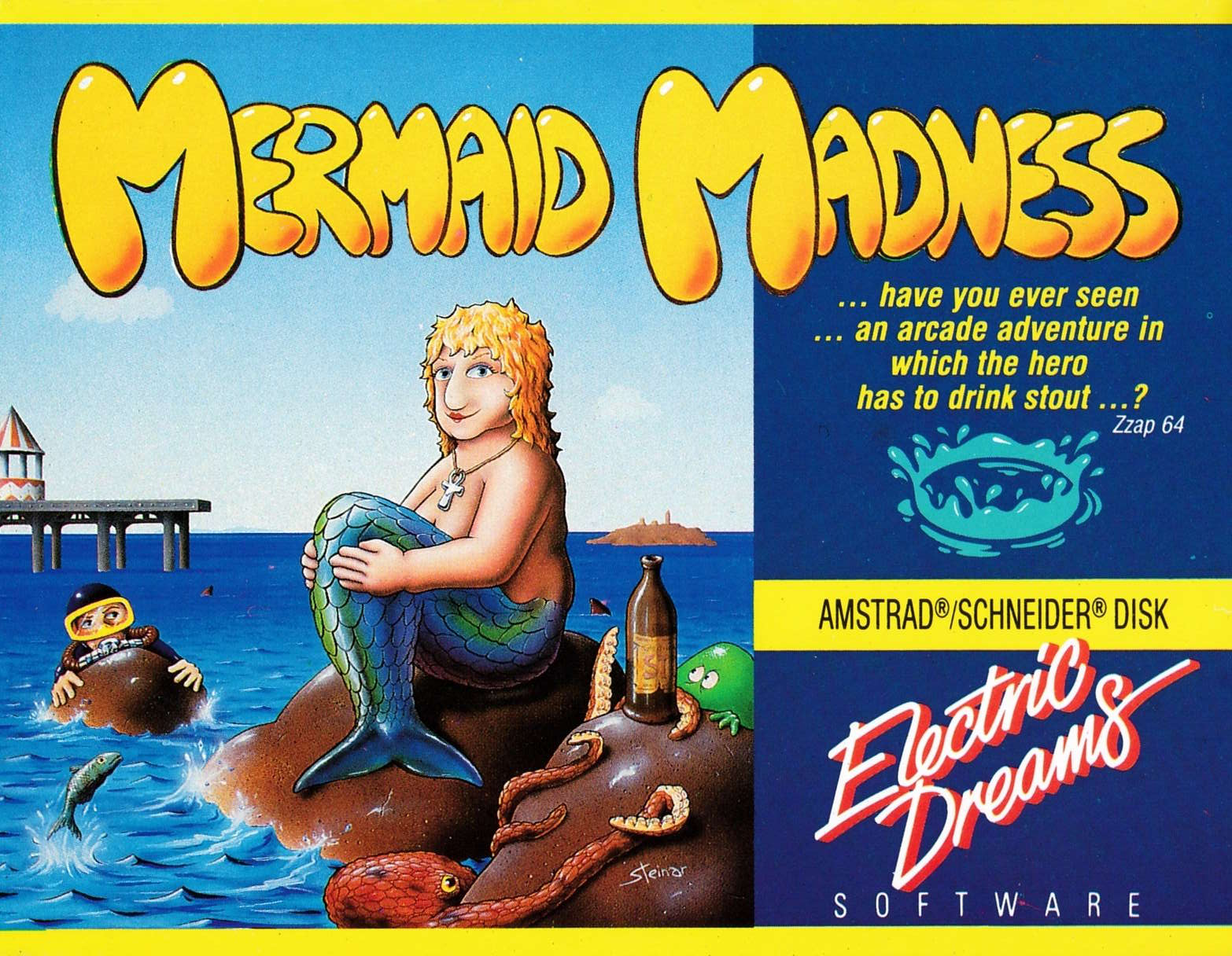 screenshot of the Amstrad CPC game Mermaid madness by GameBase CPC