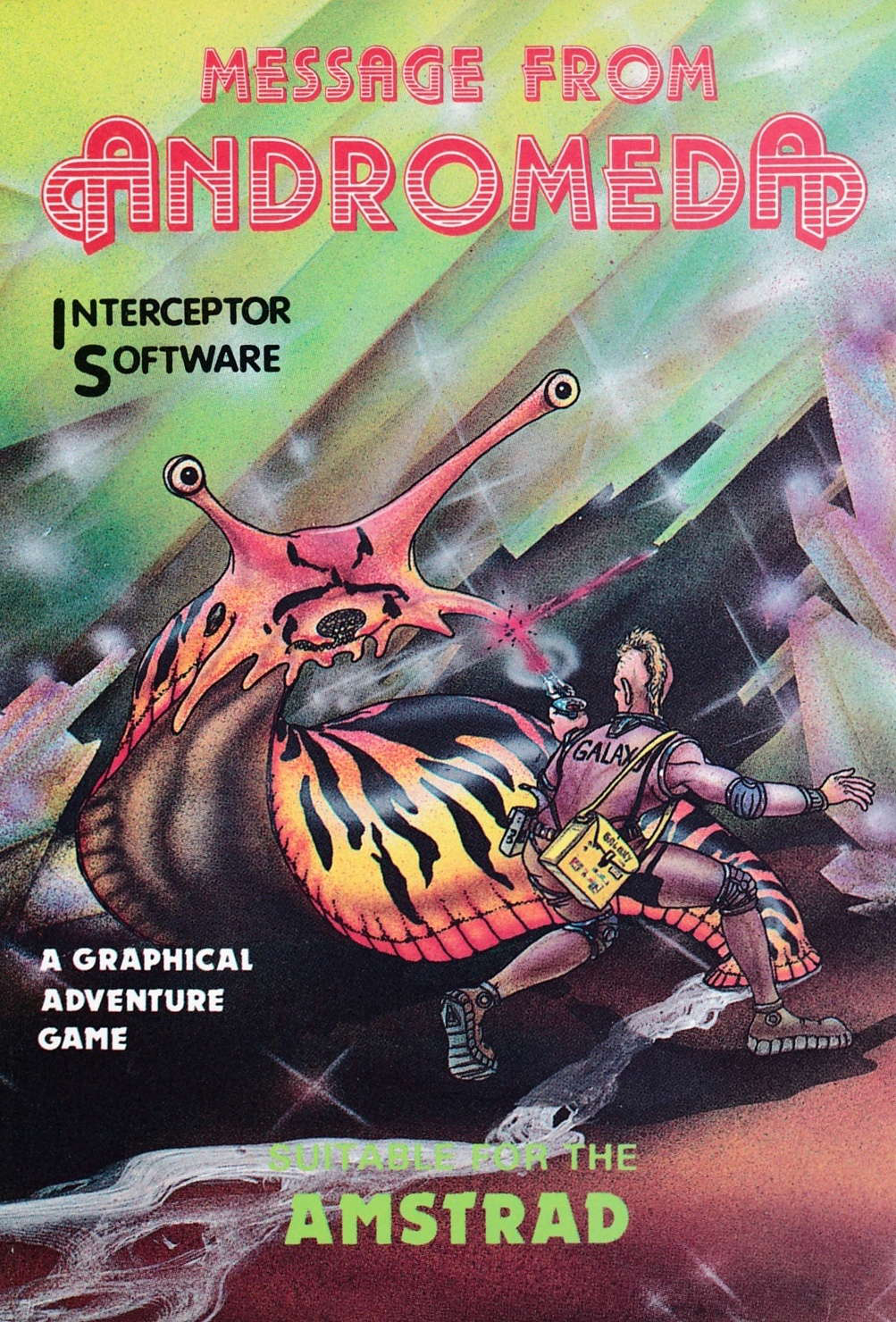 screenshot of the Amstrad CPC game Message from Andromeda by GameBase CPC