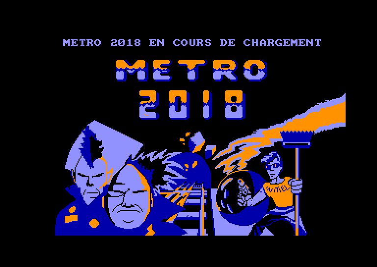 screenshot of the Amstrad CPC game Metro 2018 by GameBase CPC