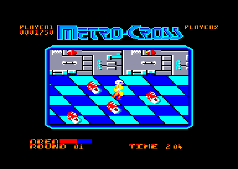 screenshot of the Amstrad CPC game Metro Cross by GameBase CPC