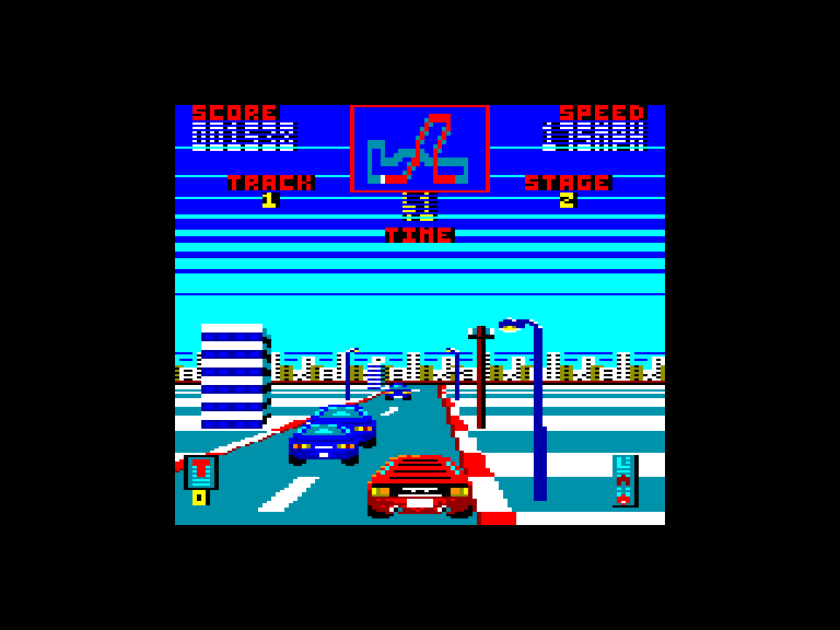 screenshot of the Amstrad CPC game Miami Cobra GT by GameBase CPC