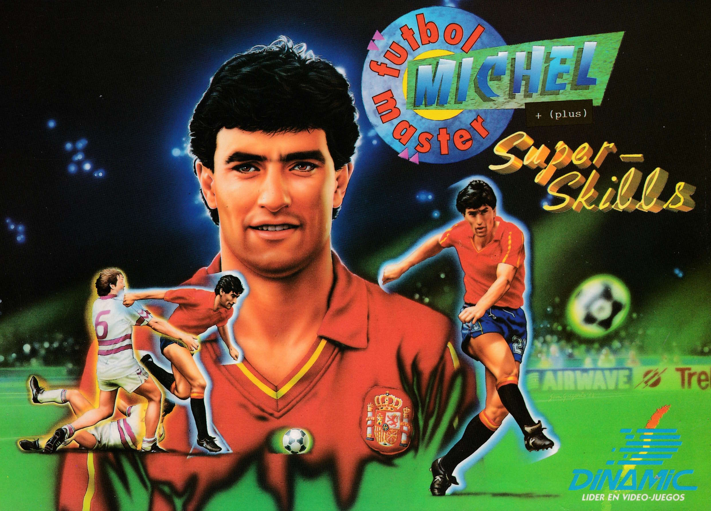 screenshot of the Amstrad CPC game Michel Futbol Master Super Skills by GameBase CPC