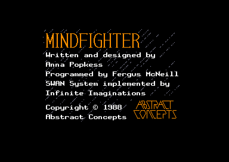 screenshot of the Amstrad CPC game Mindfighter by GameBase CPC