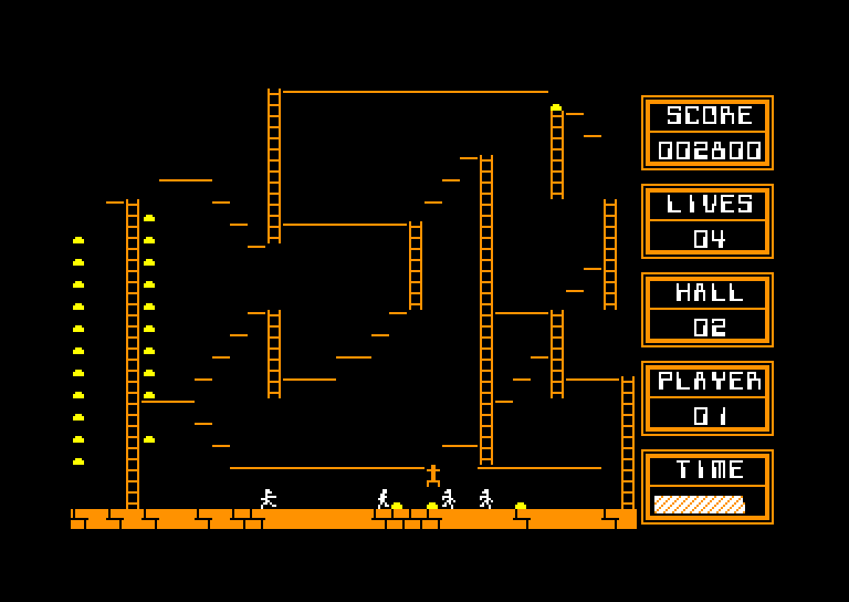 screenshot of the Amstrad CPC game Halls of Gold by GameBase CPC