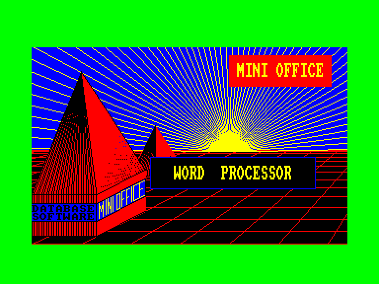 screenshot of the Amstrad CPC game Mini Office II by GameBase CPC