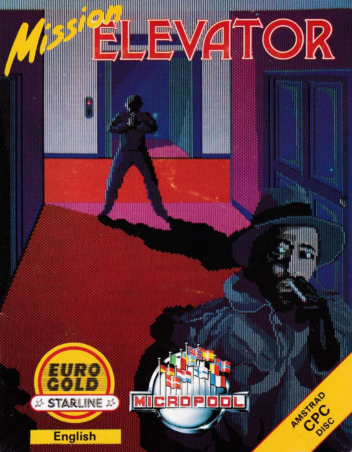 screenshot of the Amstrad CPC game Mission Elevator by GameBase CPC