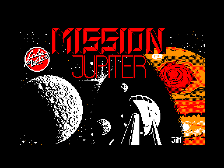 screenshot of the Amstrad CPC game Mission jupiter by GameBase CPC