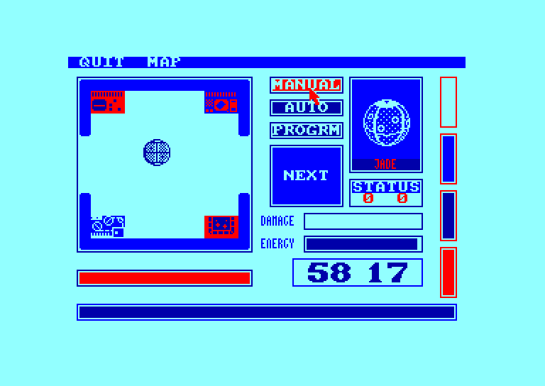 screenshot of the Amstrad CPC game Mission omega by GameBase CPC