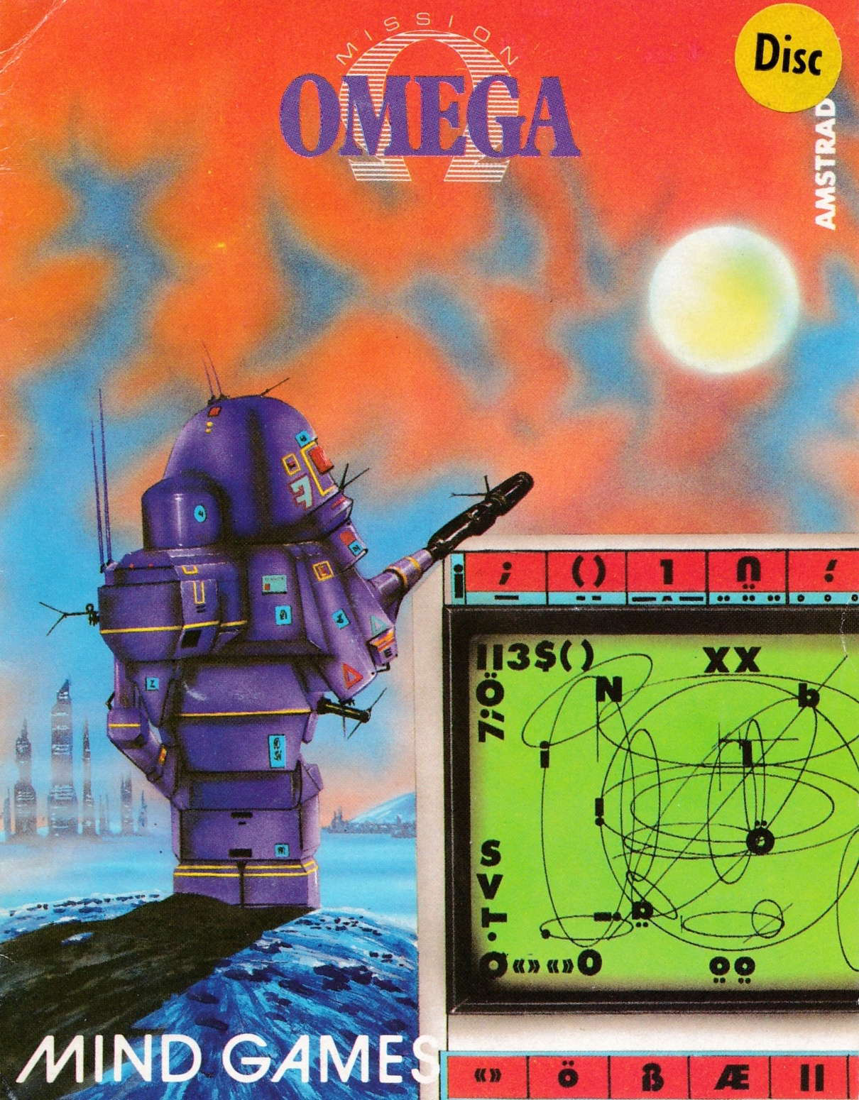 cover of the Amstrad CPC game Mission Omega  by GameBase CPC
