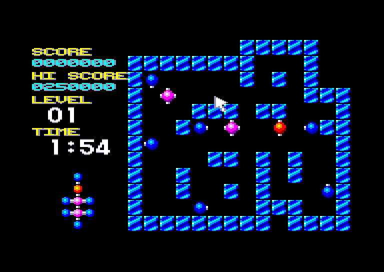 screenshot of the Amstrad CPC game Molecularr 1 by GameBase CPC