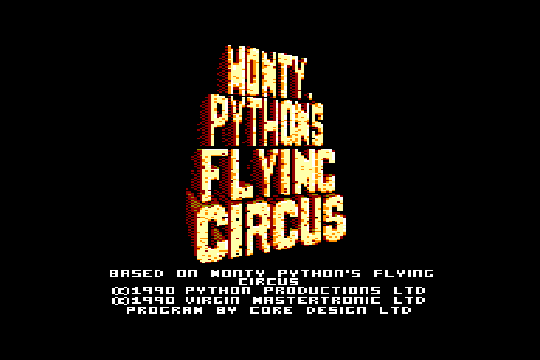 screenshot of the Amstrad CPC game Monty python's flying circus by GameBase CPC