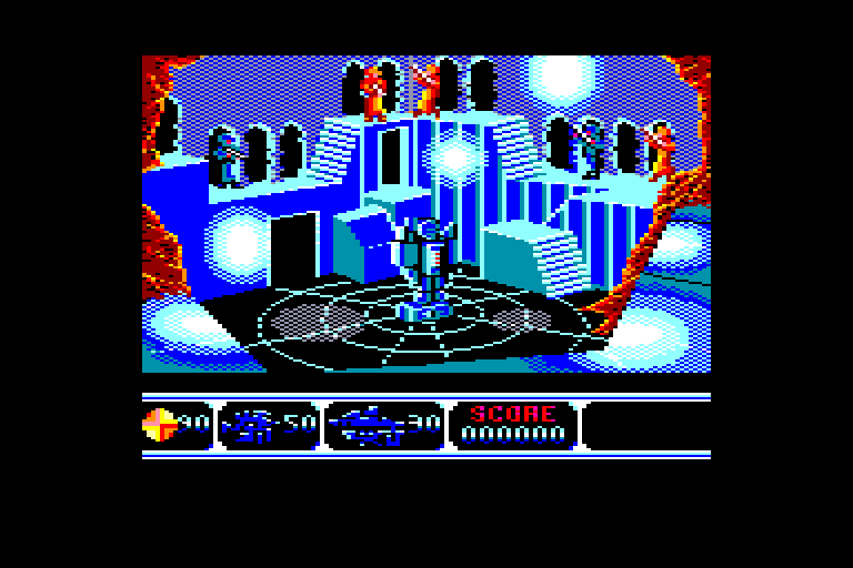 screenshot of the Amstrad CPC game Moonwalker by GameBase CPC