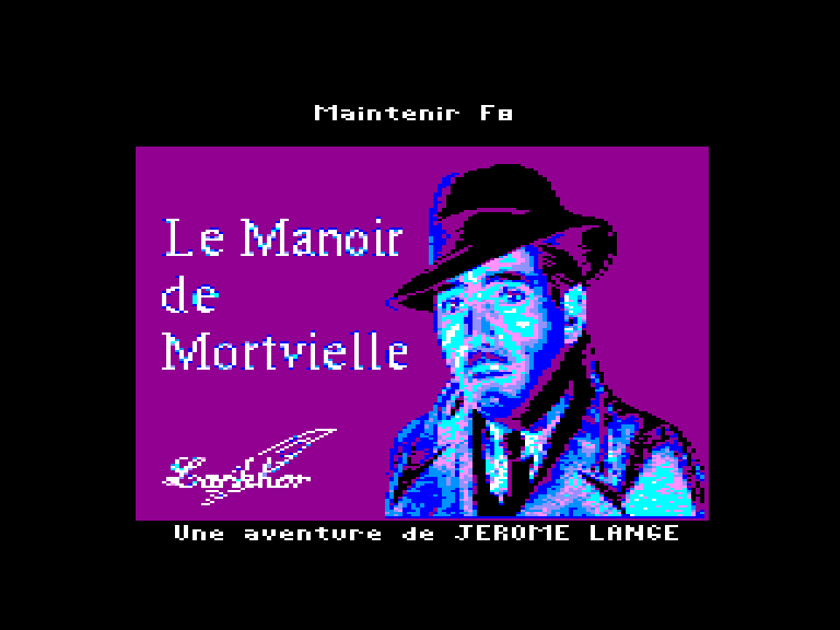screenshot of the Amstrad CPC game Mortville Manor by GameBase CPC