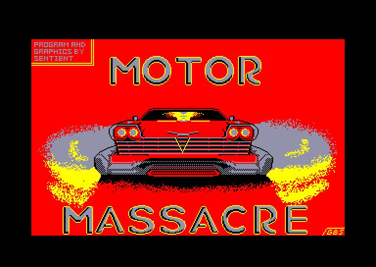 screenshot of the Amstrad CPC game Motor massacre