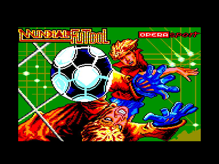 screenshot of the Amstrad CPC game Mundial de futbol by GameBase CPC