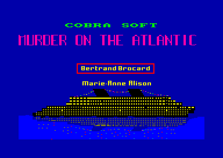 screenshot of the Amstrad CPC game Murder on the Atlantic by GameBase CPC